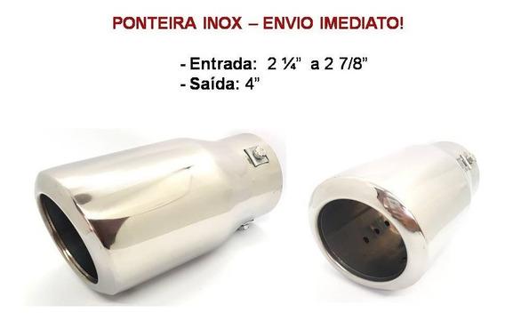 Ponteira Inox Esportiva Chanfrada Com Abafador Interno!