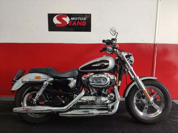 Harley Davidson Sportster Xl 1200 Custom Abs 2015 Prata