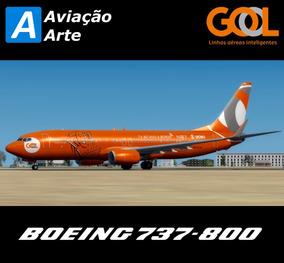 Aeronave Fsx - Boeing 737-800 Gol Pr-gtm #tv Ao Vivo Bordo