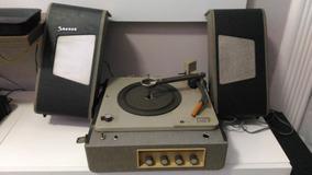 Toca Disco Vitrola Stereo Philips Válvulada Anos 50 Antigo