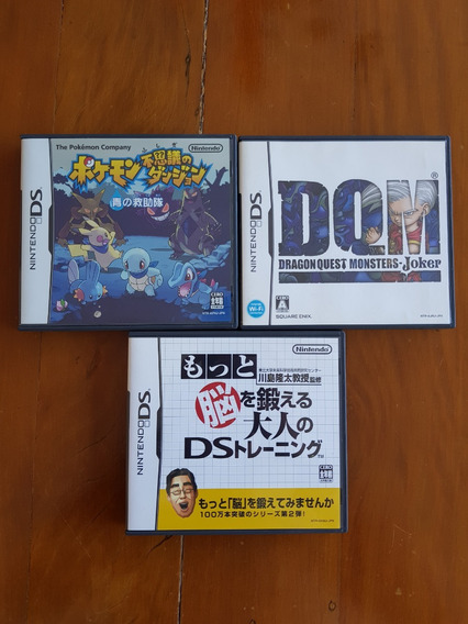 3 Jogos Nds Pokemon Mystery Dungeon + Dragon Quest Monsters