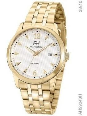 Relógio Ana Hickmann Original Feminino Dourado Ah29043