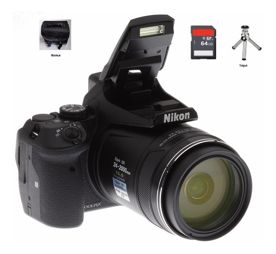 Câmera Nikon Coolpix P900 +64gb+ Bolsa+tripe+ Nota Fiscal