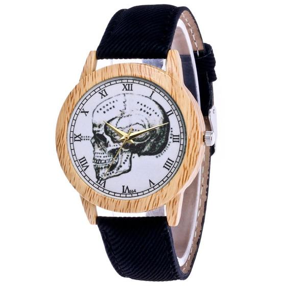 T64- N Luxuoso Relógio De Pulso Inoxidável Aço Couro Band