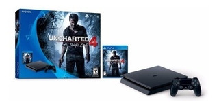 Playstation Consola Ps4 500 Gb + Uncharted 4 Con