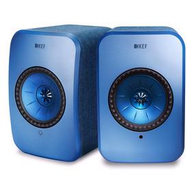 Caixa Amplificada Kef Lsx Azul Bivolt Bluetooth Rev. Oficial