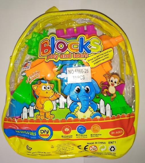 Mega Blocos Grandes Brinquedo Educativo 33 Peças Grandes
