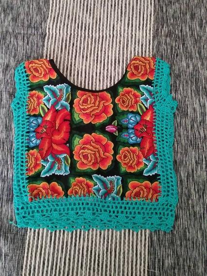 Blusa Para Niña Con Estampado Del Istmo Oaxaca Talla 4