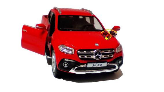 Miniatura Mercedes-benz X-class Pickup Vermelha 1:42 Kinsmar