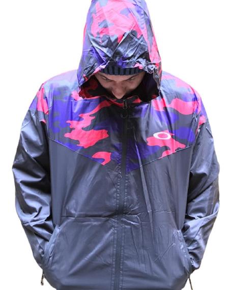 Jaqueta Corta Vento Preta Com Camuflado Outono Inverno Tende