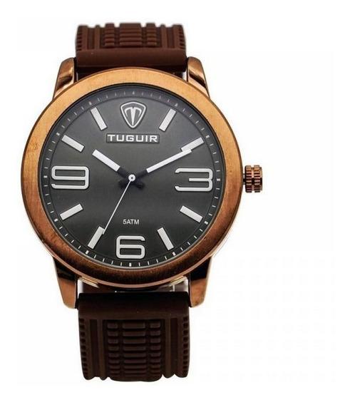 Relógio Masculino Tuguir Analógico 5320g Bronze E Marrom