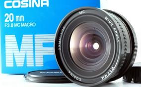 Lente Cosina 20mm F 3,8 Macro + Adaptador Para Camera Fuj-x