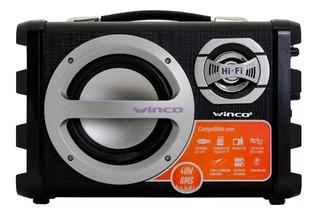 Parlante Potenciado Winco 40w Rms Portatil Karaoke Bluetooth