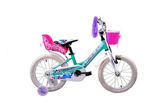 Bicicleta De Chicas Peretti Dolphin R12 Con Sillita Muñeca