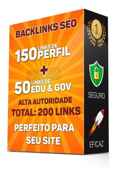 Comprar Backlinks 150 Pr9 + 50 Edu/gov Alta Autoridade Seo