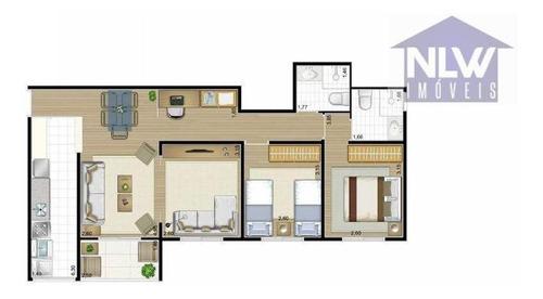 Imagem 1 de 16 de Apartamento Com 2 Dormitórios À Venda, 83 M² Por R$ 263.814,30 - Jardim Esmeralda - Limeira/sp - Ap3237