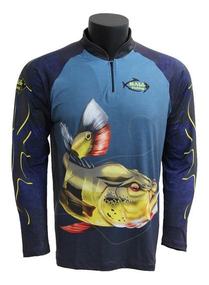 Camiseta De Pesca Camufladas Ou Com Peixes Camisa Com Proteção Uv50+ Escolha A Sua
