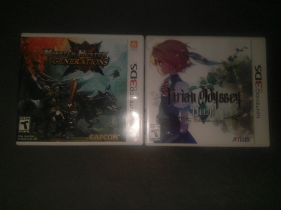 Etrian Odyssey + Monster Hunter Generations 3ds