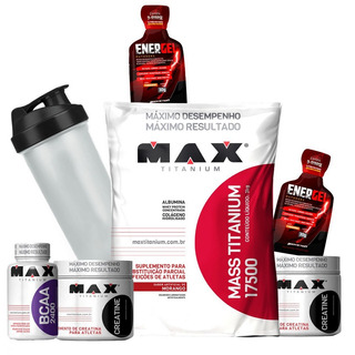 Combo Quit Hipertrofia / Massa Magra Max Titanium Brindes