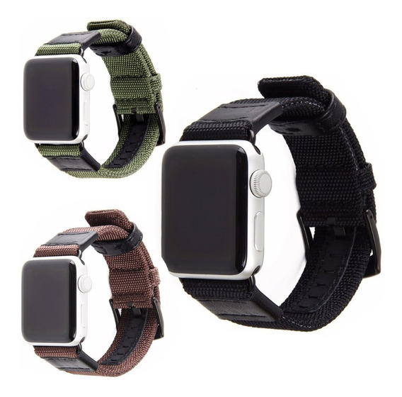 Correa De Nylon Tactica De Lujo Para Apple Watch + Regalos