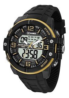 Relógio X-games Masculino Anadigi Xmppa227 Bxpx Dourado