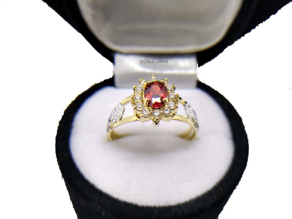 Anel De Formatura Feminino Ouro18 K Pedras Zircônias