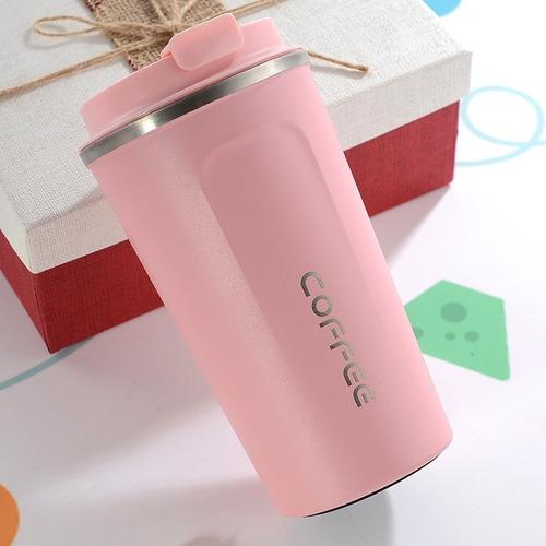 Vaso Térmico Mug 380ml Con Tapa Coffee