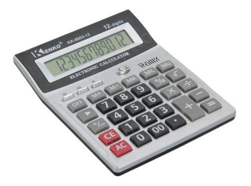 Calculadora Kenko Kk-8003-12 Display 12 Digitos E Identificador De Notas Falsas