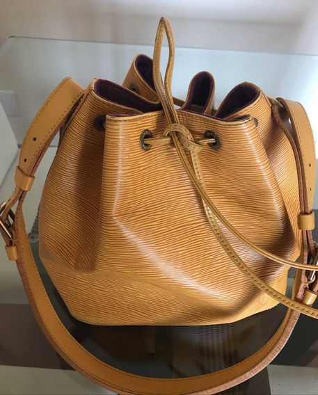 Bolsa Louis Vuitton Noe Amarela Original