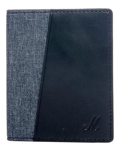 Billetera Marshall Denim And Leather