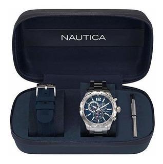 Nautica Nst Caballeros 30 Boxset 45mm Reloj De Ra