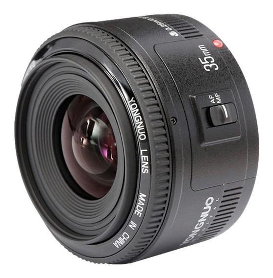 Lente Yongnuo 35mm P/ Canon Yn35mm F2 Yn35