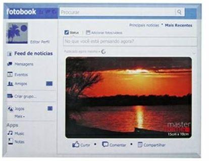 Porta Retrato Fotobook Lindo Onca Foto Decoração Face