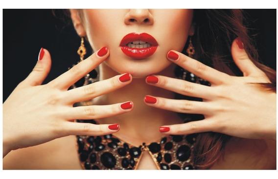 Adesivo Decorativo Manicure Unhas Salão Beleza Cabelo J 211