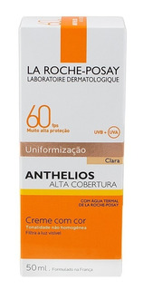 Anthelios P.solar Fps60 Uniformização Clara 40ml Original