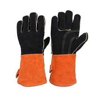 Leather Welding Gloves Heat & Fire Resistant Work Glove For