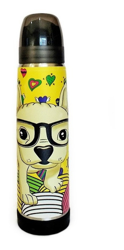 Termo Acero Inoxidable Lumilagro Luminox 1 Litro Yellow Dog