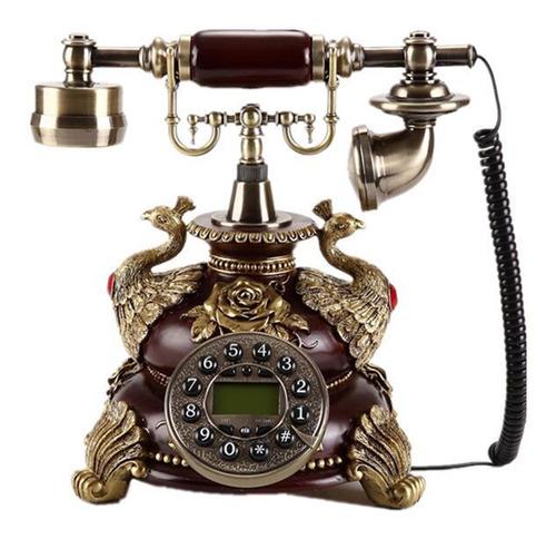 Teléfono Vintage Retro Teléfono Peacocksbrown