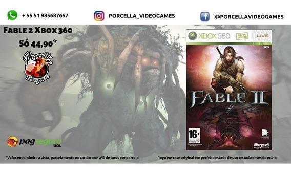 Jogo Fable 2 Original S/ Capa Midia Física Para Xbox 360