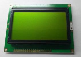Display Lcd Gráfico 128x64 Fundo Verde C/ Letras Pretas