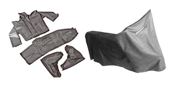 Capa Cobrir Moto Térmica + Capa Chuva Impermeável Motoqueiro