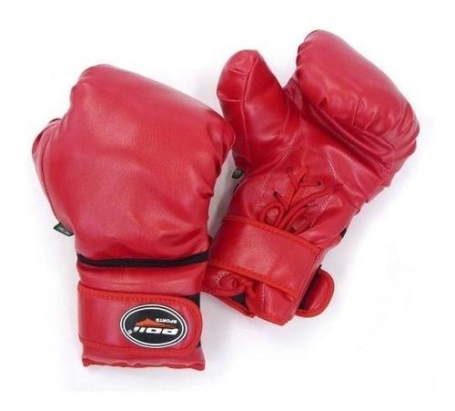 Luva De Luta Boxe Com Cadarço Vermelha Marca Polimet