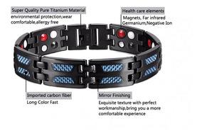 Pulseira Magnética 4 Elementos Bracelete De Titânio