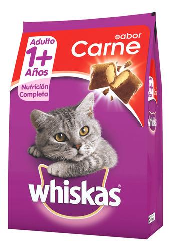 Imagen 1 de 1 de Alimento Whiskas 1+ para gato adulto sabor carne en bolsa de 10.1kg