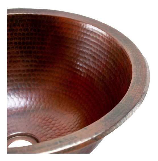 Lavabo Redondo Nvessel De Cobre - Cosasdecobre
