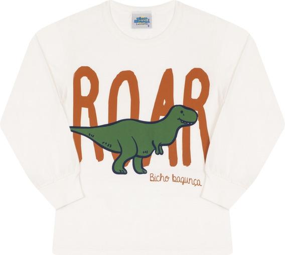 Pijama Infantil Bicho Bagunça Menino Dinossauro