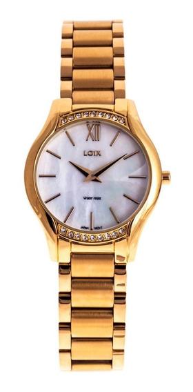 Reloj Loix Mujer De Lujo En Acero