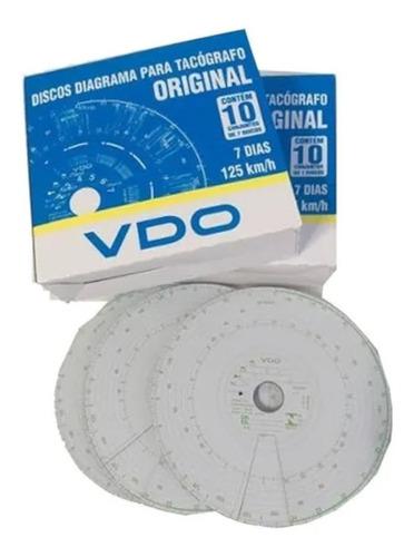 Disco Tacografo Semanal 125km 7dias Vdo (5 Caixas)