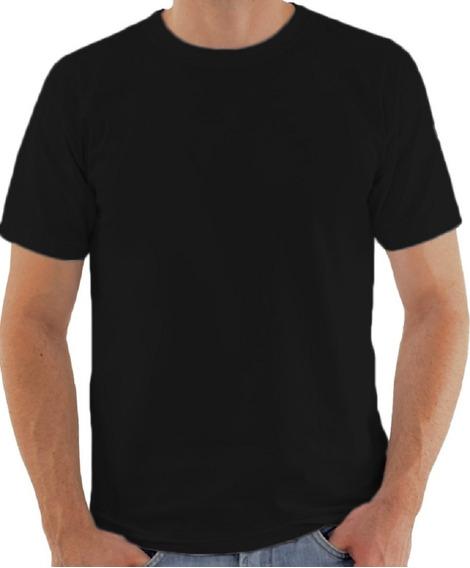 14 Camisa Lisa Poliéster Blusa Preta Sublimação Atacado