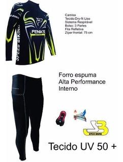 Conjunto Penks Speed Biking Calça +camisa Manga Longa